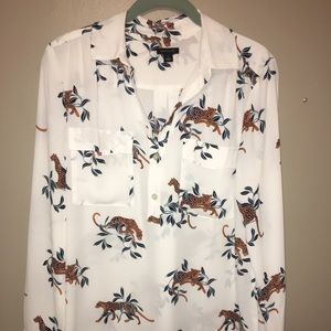 Ann Taylor Jaguar blouse